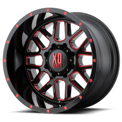 XD Wheels XD820 Grenade Black Milled Red
