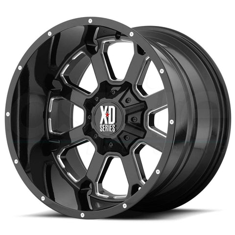 XD Wheels XD825 Buck 25 Black Milled