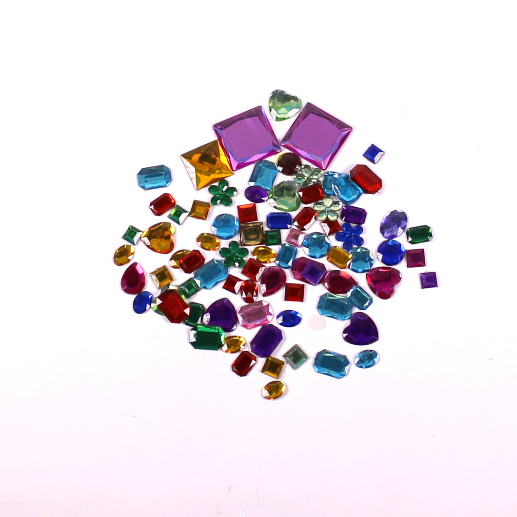 Self Adhesive Assorted Jewels 200g