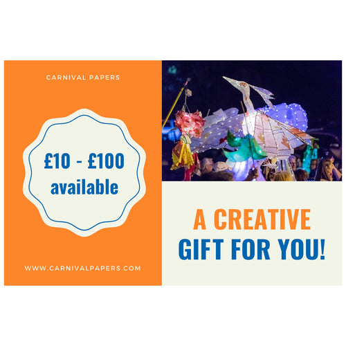 carnival tokens gift card £10 to £100