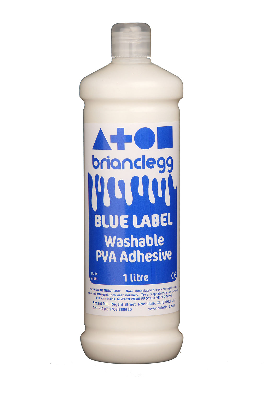 PVA Washable Glue 1ltr Bottle