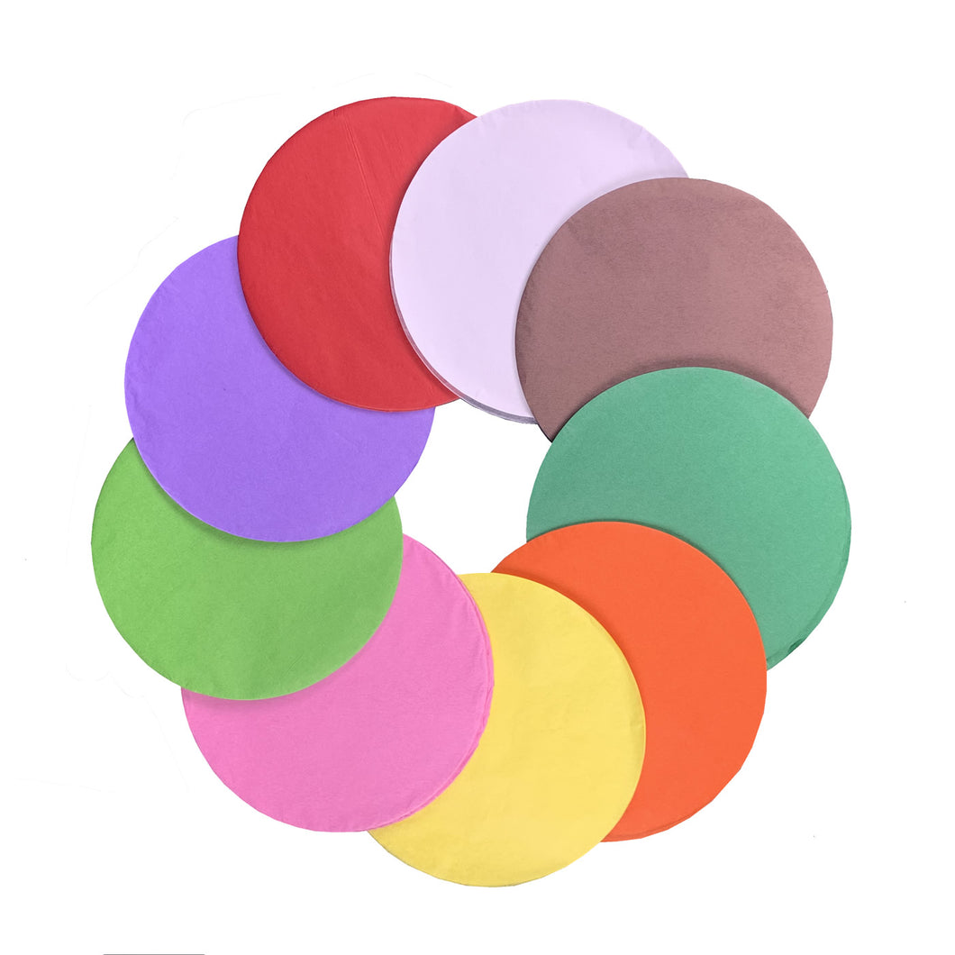 15cm Coloured Tissue Paper Circles - 150 Pack