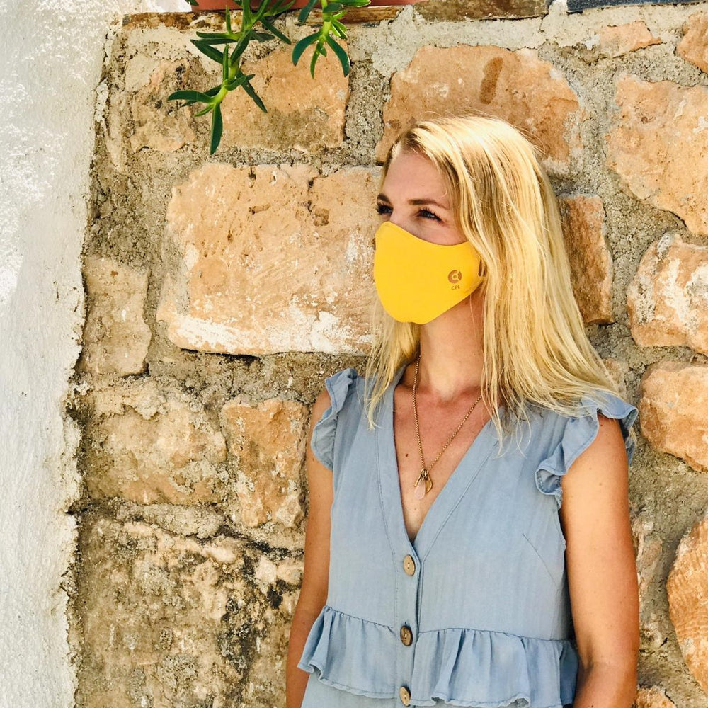Laden Sie das Bild in den Galerie-Viewer, Antivirale Atemmaske Coppermask, Amber Yellow