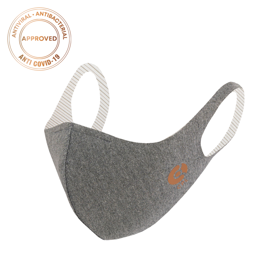 Laden Sie das Bild in den Galerie-Viewer, Antivirale Atemmaske Coppermask, Granite Grey