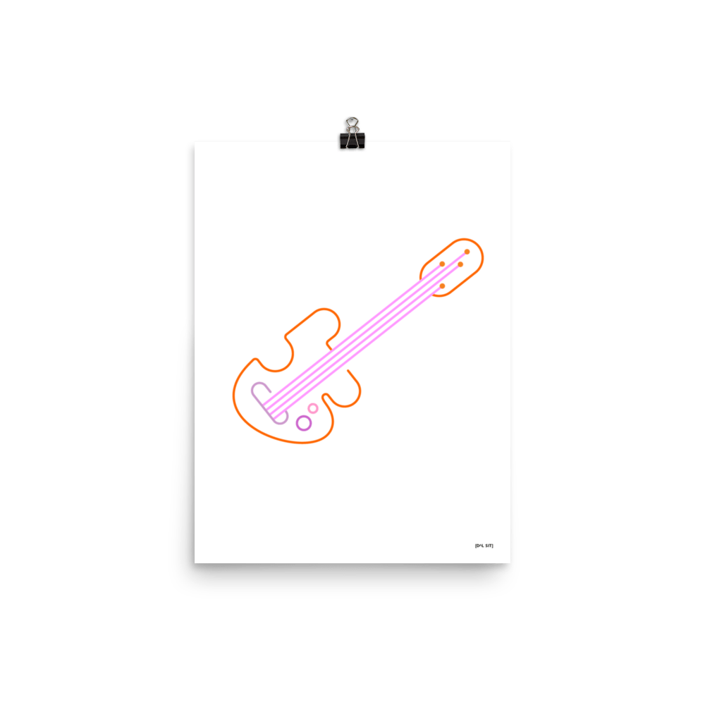 Electric Guitar Poster 1.2
