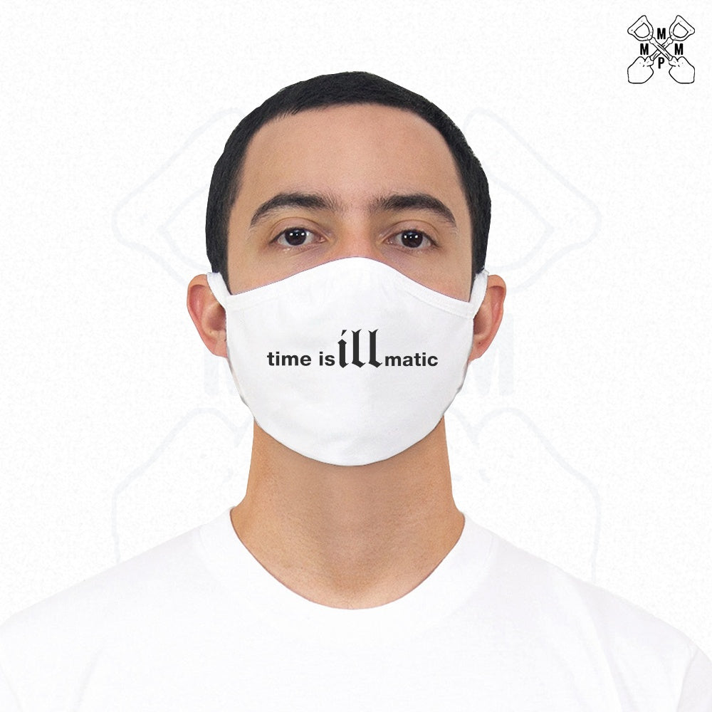 Time is illmatic Face Mask - White