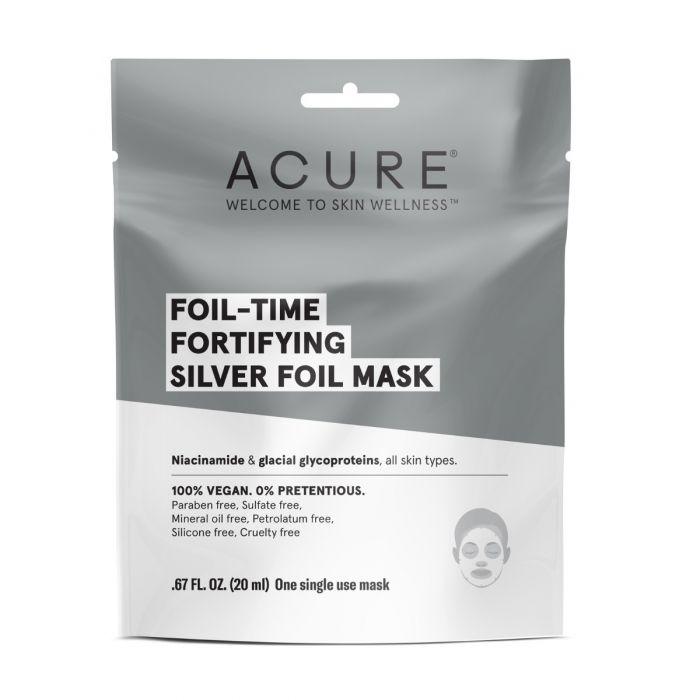 ACURE Foil-Time Fortifying Silver Foil Mask - 20ml