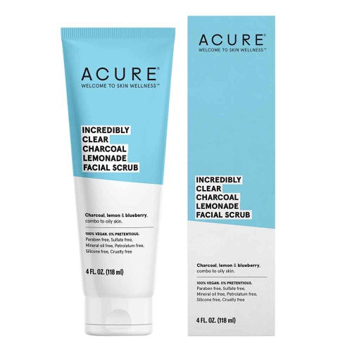 ACURE Incredibly Clear Charcoal Facial Scrub - 118ml