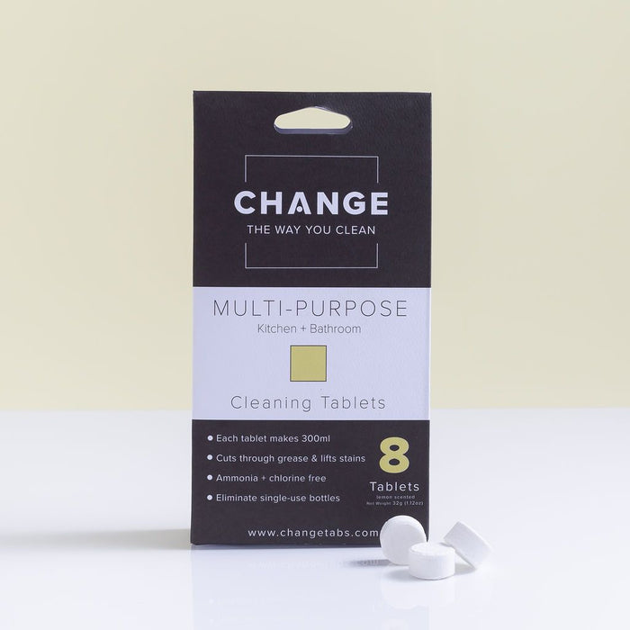 CHANGE Cleaning Tablets Multi-Purpose Kitchen & Bathroom 8 pack