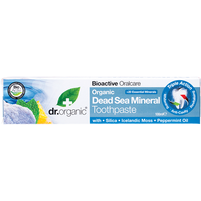 DR ORGANIC Toothpaste Organic Dead Sea Mineral 100ml