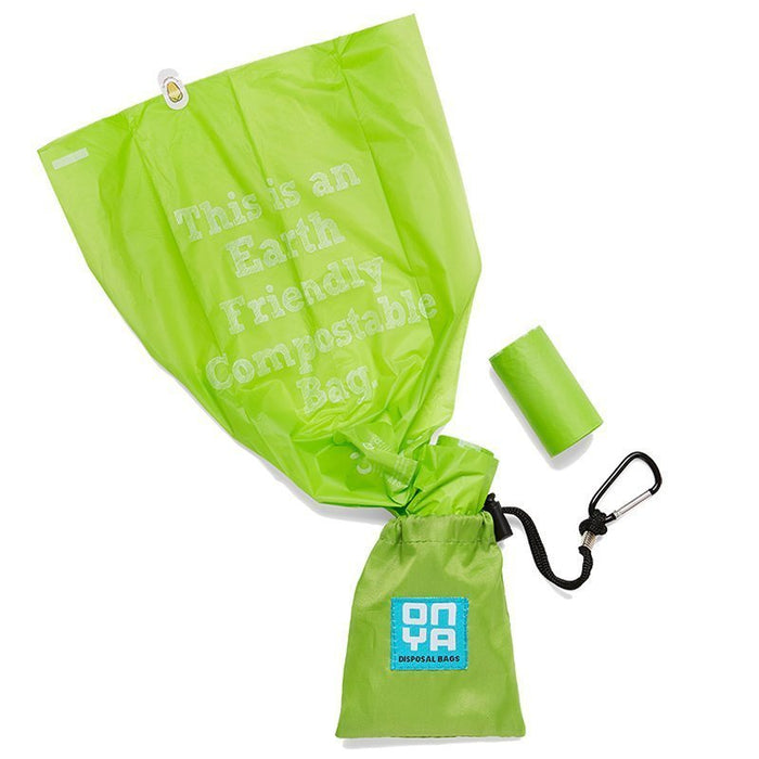 ONYA Dog Waste Disposal Bags and Carry Pouch