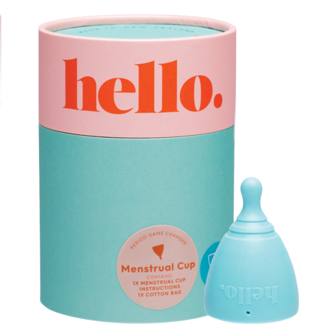 THE HELLO CUP Menstrual Cup S/M Blue x 1