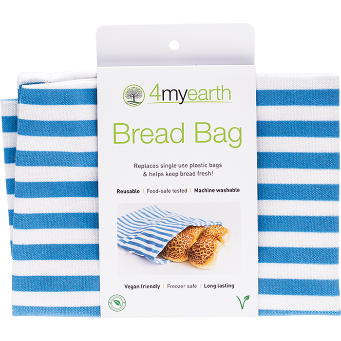 4MYEARTH Bread Bag Denim Stripe - 30x40cm