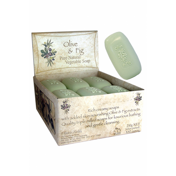 CLOVER FIELDS Olive & Fig Soap bar 250g