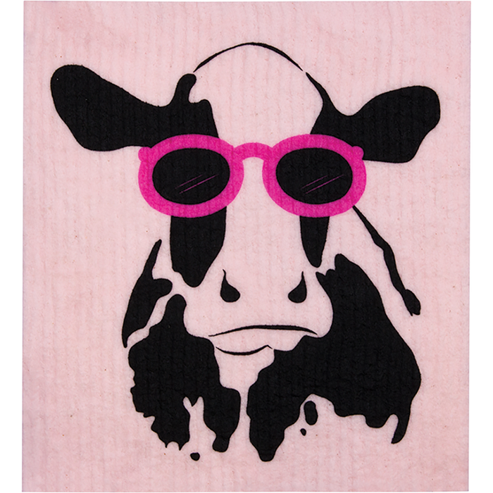 RETROKITCHEN Dishcloth Cow x 1