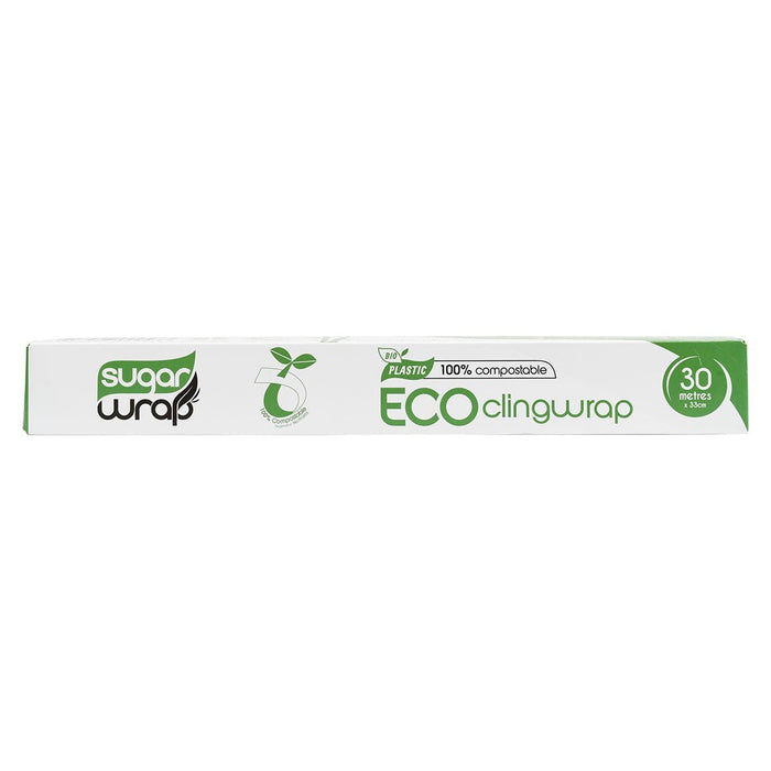 SUGARWRAP Eco Clingwrap 100% Compostable - 30m x 33cm