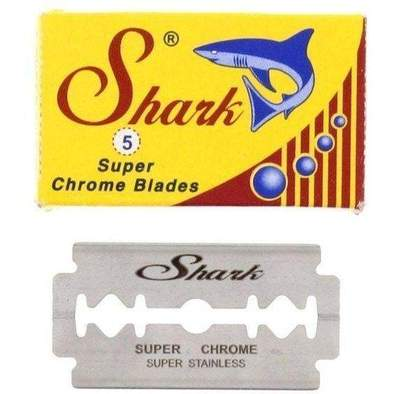 Shark Super Chrome Double Edge Razor Blades - 5 Pack