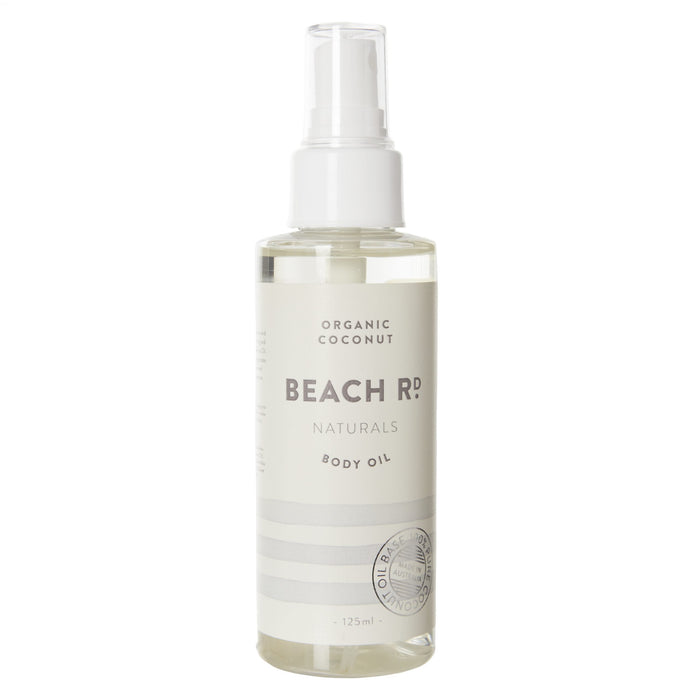 BEACH RD NATURALS Organic Coconut Body Oil 125ml