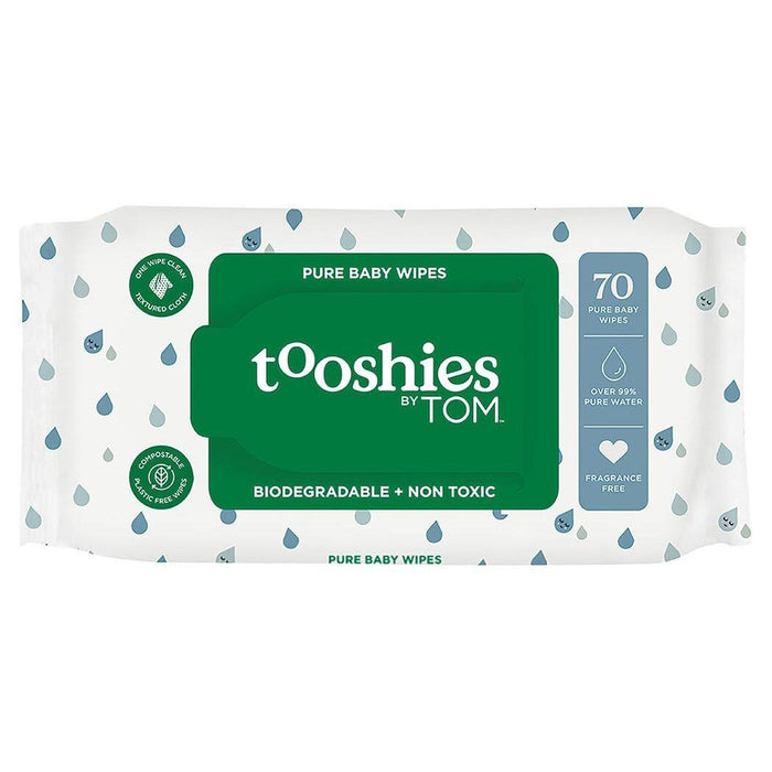 TOOSHIES BY TOM Pure Baby Wipes 99% Pure Water x70