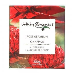URTHLY Rose Geranium & Cinnamon Soap