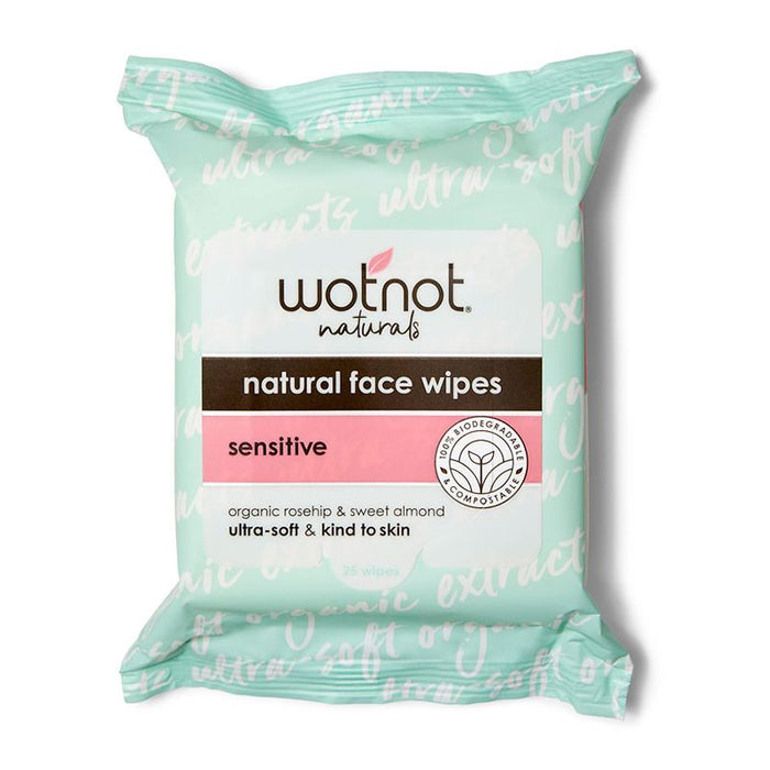 WOTNOT Sensitive Facial Wipes All Skin Types - 25