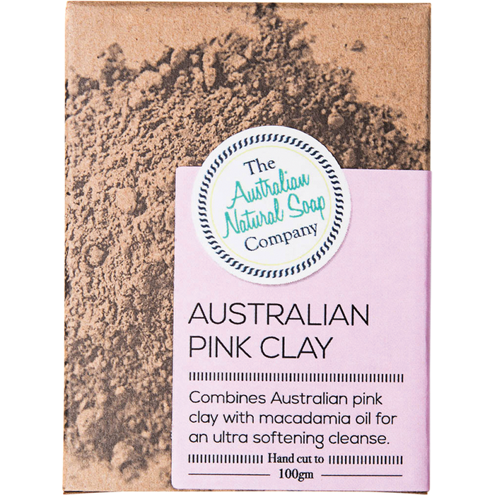 TANSC Pink Clay  Face Soap Bar Australian Pink Clay