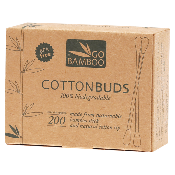 GO BAMBOO Cotton Buds x200