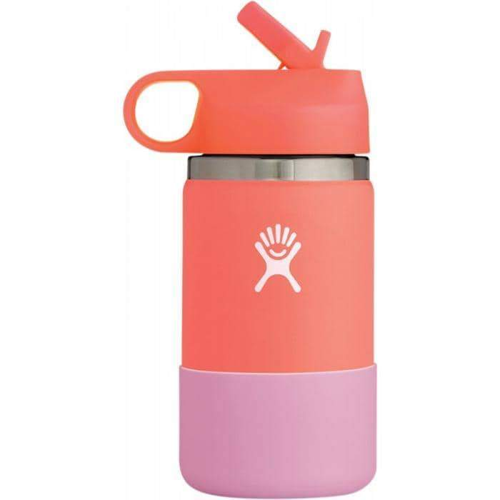 HYDRO FLASK Wide Mouth Kids Bottle - Straw Lid Double - Hibiscus 354ml