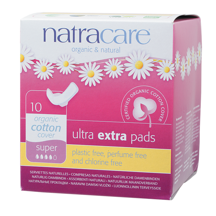 NATRACARE Ultra Extra Wings Super 10 pad