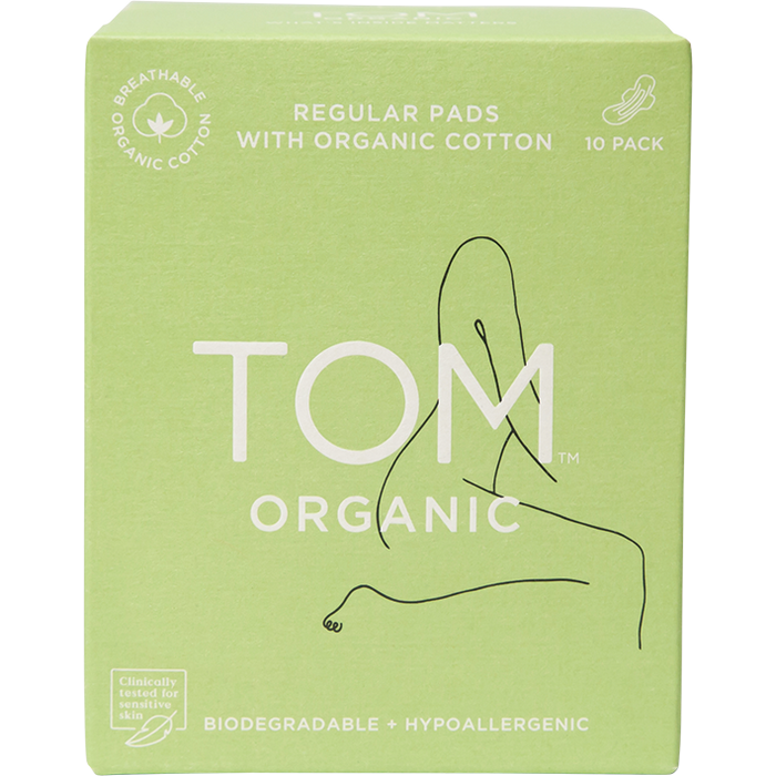 TOM ORGANIC Regular Pads x10