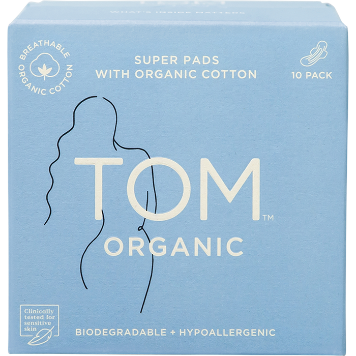 TOM ORGANIC Super Pads x10