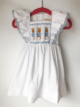 Load image into Gallery viewer, Smocked Easter Bunny Dress