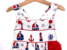 Load image into Gallery viewer, Summer Sailboats Smocked Dress
