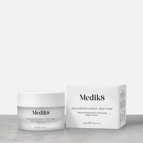 Advanced Night Restore™ by Medik8.  A Rejuvenating Multi-Ceramide Night Cream.
