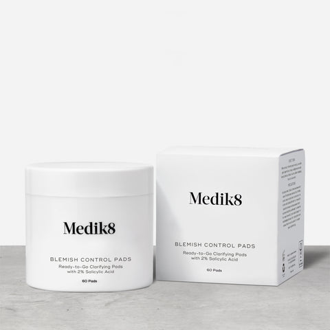 Blemish Control Pads™ by Medik8.  Ready-to-Go Clarifying Pads with 2% Salicylic Acid.