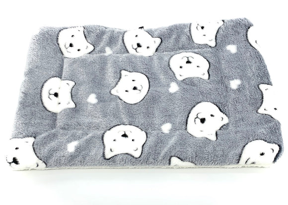 Plaid Gris Motif tête de Chat 35cm x 53 cm