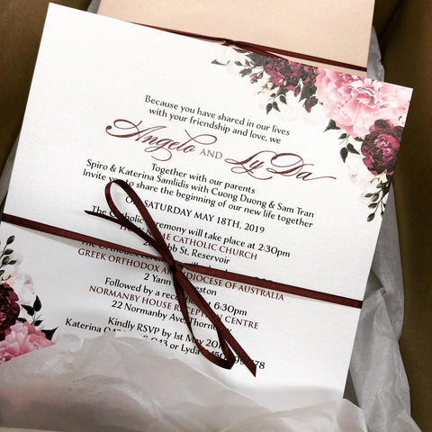 Angelo & Ly Da - wedding invitation