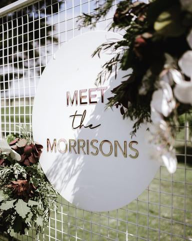 1DD.  Meet the Morrisons - Welcome Board