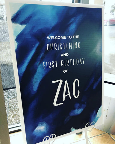 Zac's Welcome Board