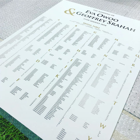 2G.  Seating Chart for Eva's & Geoffrey's wedding