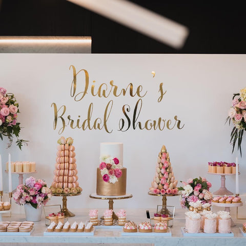 Diarne Bridal Shower Decal backdrop