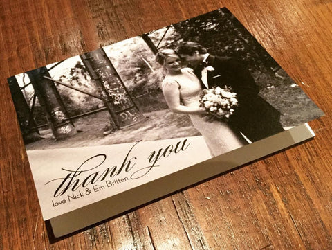 Thank You Card - Nick & Em