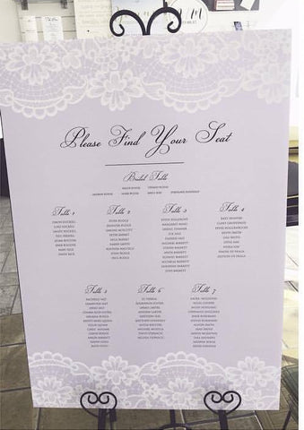 1Q.  Lilac & Lace Seating Chart