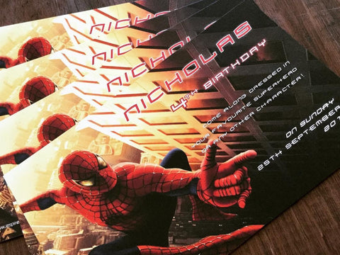 Spiderman invitation