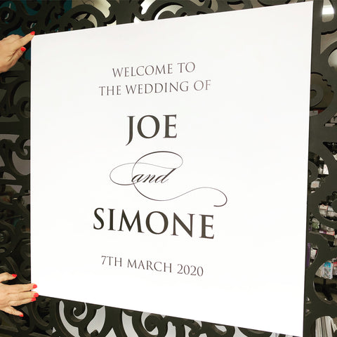 Joe & Simone - Guest Welcome Board