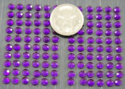 Diamante Stick On - Purple Round