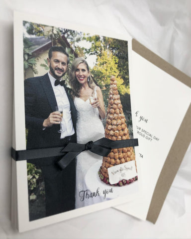 Photographic Thank You Card - double sided print