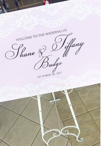 Lilac & Lace Welcome Board