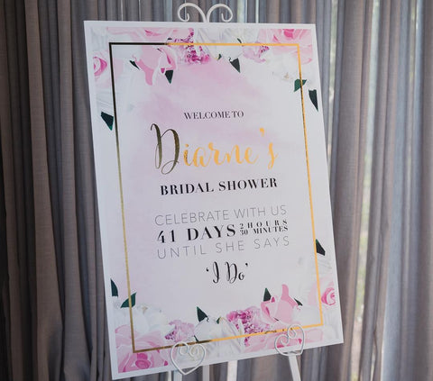 1G.  Diarne's Bridal Shower Welcome Sign