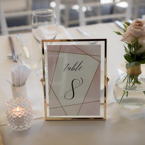 Geometric Design -  Table Numbers